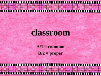 Common and Proper Nouns Question Set for Classroom Responders - PPT