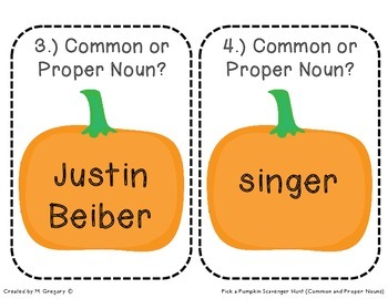 Common and Proper Nouns FREEBIE (Scavenger Hunt)
