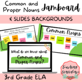 Common and Proper Nouns Slides and Jamboard Backgrounds -
