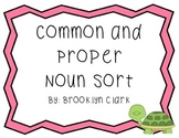 Common and Proper Nouns Sort - Cut and Paste Cards