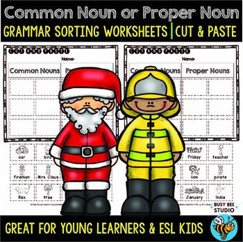 Common and Proper Nouns Sort   Cut and Paste Worksheets