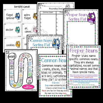 Common and Proper Nouns: Sorts and Practice: Literacy Center/Guided Practice