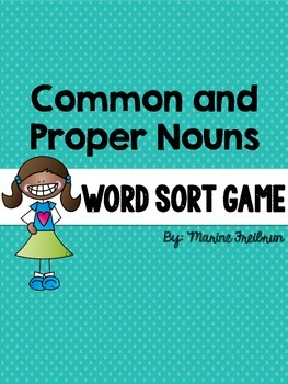 Common and Proper Nouns Word Sort