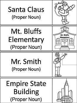 Common and Proper Nouns Word Wall Cards