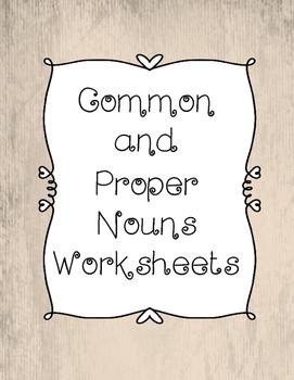 NO PREP Common and Proper Nouns Worksheets