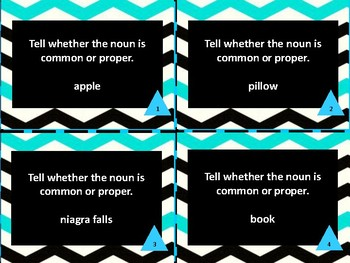 Common and Proper Nouns and Book Titles Task Cards