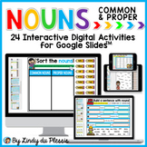 Common and Proper Nouns for Google Slides Distance Learning Digital Activities