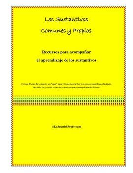 Spanish Common and Proper Nouns, Los Sustantivos Propios y