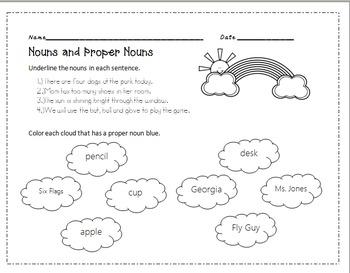 Common and Proper noun practice NO PREP