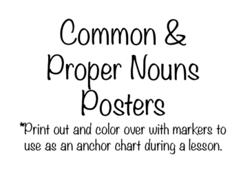 Common and Proper nouns poster