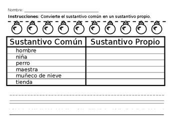 Common and Proper nouns (spanish)