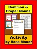 Common and Proper Nouns Task Cards and Worksheets