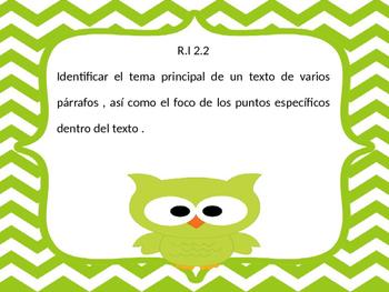 Common core RI second grade Spanish and English
