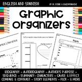 English & Spanish Reading Graphic Organizers