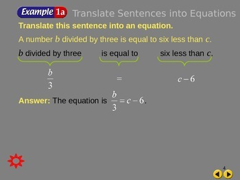 Common core for writing equations