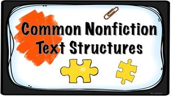 Common nonfiction text structures TC