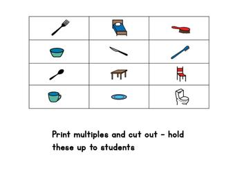 Common objects - bingo/memory/go fish