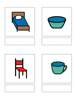 Common objects - matching book, flash cards and more!!