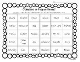 Common or Proper Noun Color Sorting Worksheet