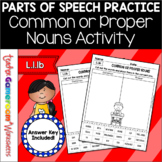 Common or Proper Nouns Cut and Paste Worksheet
