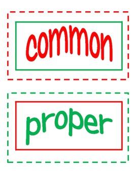 Common or Proper Nouns of the Season Center FREEBIE!