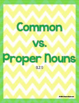 Common vs. Proper Nouns FREEBIE!