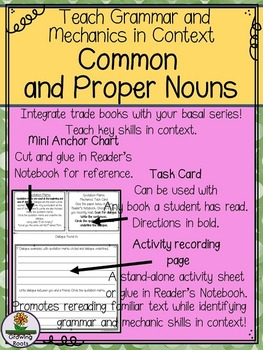 Common vs. Proper Nouns