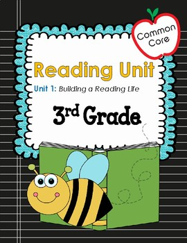 Common Core 3rd Grade Reading Mini Lessons Unit 1: Building a Reading Life