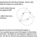 CommonCore Geometry Practice/Activities (Constructions & Basics G.CO.1, 12 & 13)