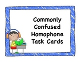 Commonly Confused Homophone Task Cards with QR Codes
