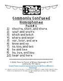 Commonly Confused Homophones 10 Pack #1
