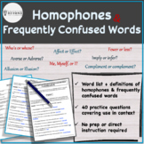 Homophones & Frequently Confused Vocabulary Words - List #