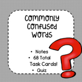 Commonly Confused Words Task Cards