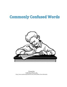 Commonly Confused Vocabulary Mini Poster Activity