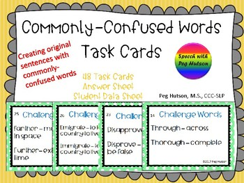 Commonly-Confused Word Task Cards