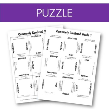 Commonly Confused Words 1 Differentiation Station