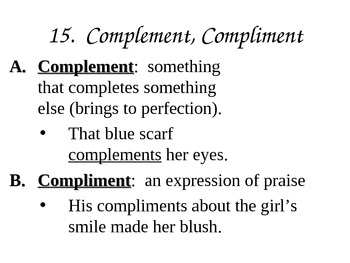 Commonly Confused Words 10th and 11th Grade TN