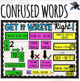 Commonly Confused Words Bulletin Board There Their They're & more