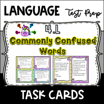 Homophone-Task Cards & Activity-Grammar-Pack-4L1g