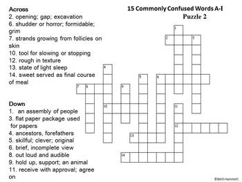 Commonly Confused Words A-I Game and Puzzles with Activities