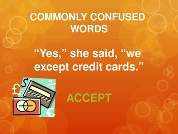Commonly Confused Words Activity PPT