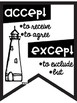 Commonly Confused Words Anchor Charts ~Black & White Posters~ Nautical Theme