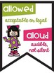 Commonly Confused Words Anchor Charts Friendly Monster Theme Combo Pack