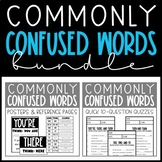 Commonly Confused Words Bundle - Posters, Reference Pages,