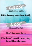 Commonly Confused Words - Classroom Posters