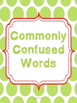 Commonly Confused Words-Common Core