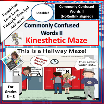 Commonly Confused Words II Kinesthetic Maze   NoRedInk Aligned