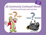 Commonly Confused Words J-W Game and Puzzles with Activities