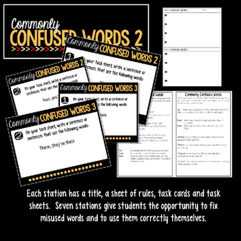 Commonly Confused Words Learning Stations