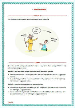 Learning Pack 7 - Commonly Confused Words - Set 1